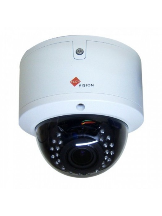 Vandal proof motorised varifocal dome camera HD TVI 2mp white