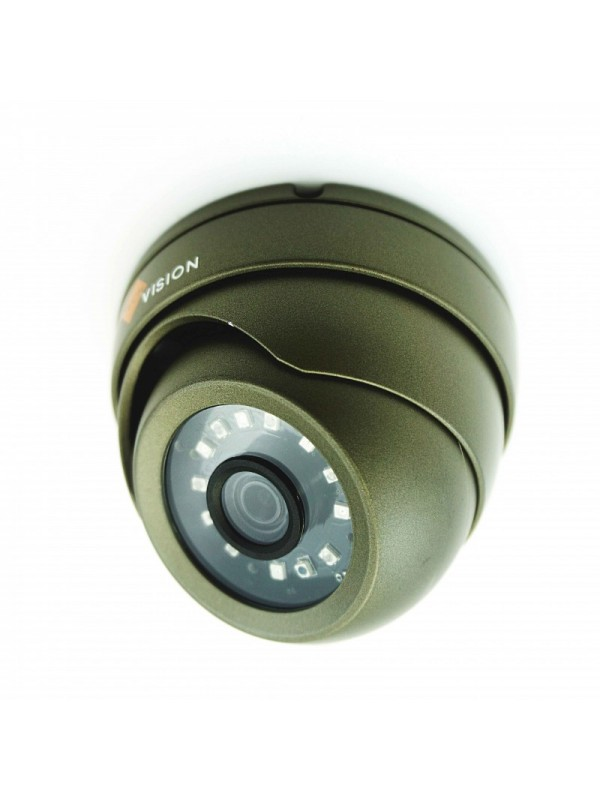 3MP TVI Dome Grey CCTV Camera Full HD 20m 3.6mm Lens IP66 with Base Extension Ring