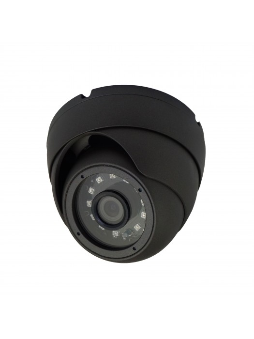 Camera HD 720p AHD Grey Dome / Round 20 m Distance Wide Lens 2.8 mm 12 IR LED