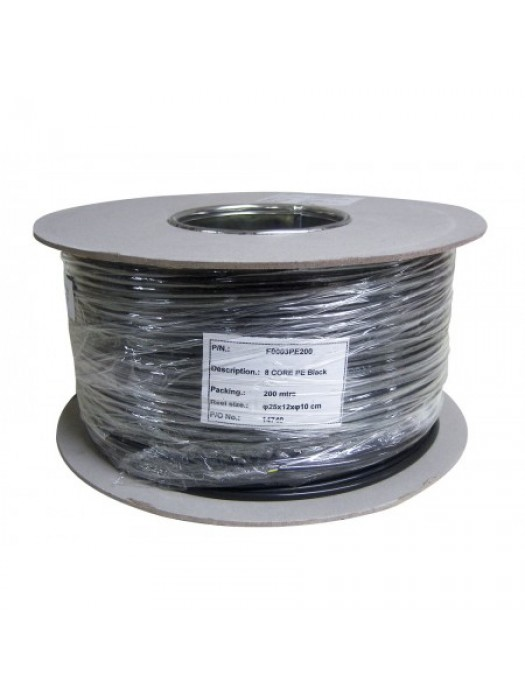 8 Cores Alarm Cable Black 100m