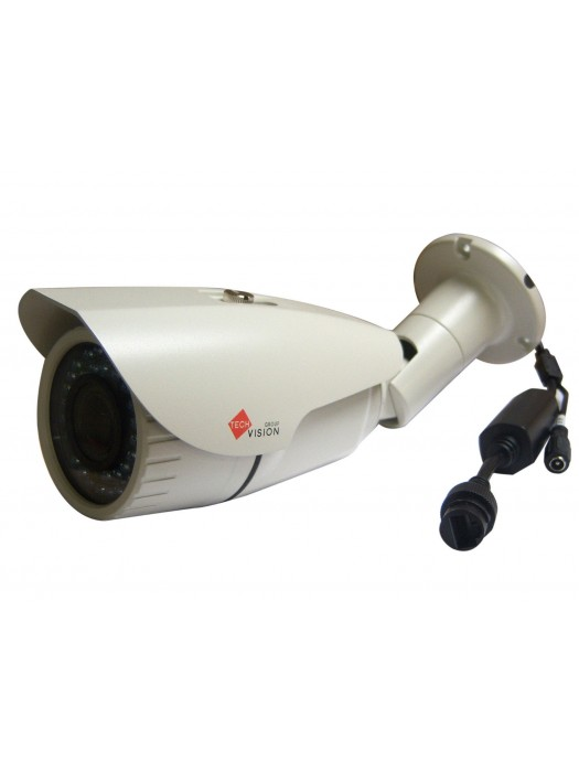 Bullet Ip Camera 3mp Varifocal 2.8-12mm 42 Led`s 40m Night Vision Poe White